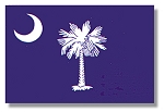 South Carolina State - Indoor/Parade, WITH Fringe (two sizes) - Colonial NYL-GLO