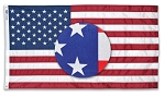 SUN-GLO U.S. Flags - assorted sizes - Nylon Flag with Dyed Stars and Stripes