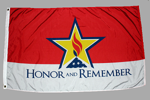Screen-Printed Honor and Remember Flags (Q)